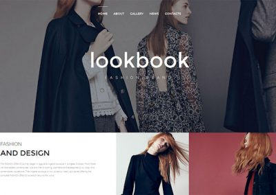 Fashion Designer Website Example