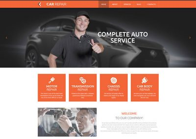 Auto Repair Example Website