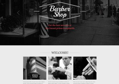 Barbershop Example Website