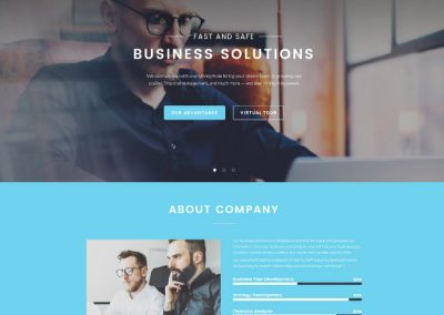 Business Consultant Website Example