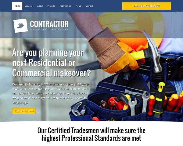 Contractor & Skilled Trades Websites - South Jersey Websites