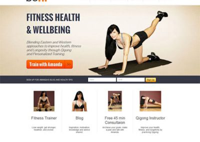 Personal Trainer Example Website