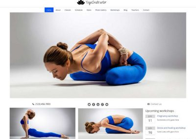 Yoga Studio Example Website