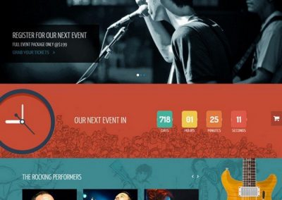 Band & Music Events Website Example