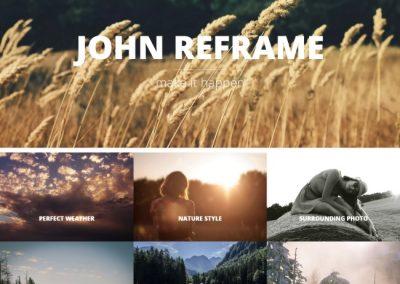 Photographer Example Website