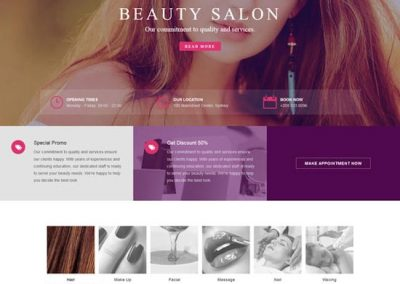 Beauty Salon Website Example