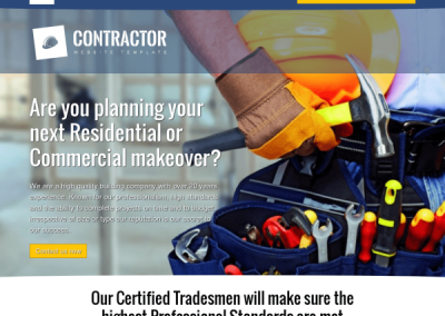 General Contractor Example Website