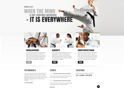 Martial Arts School Example Website