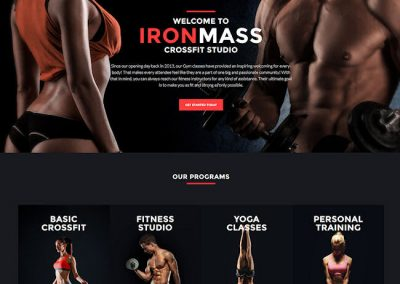 Fitness Club Example Website