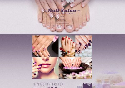 Nail Salon Website Example