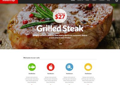 Steak Restaurant Example Website