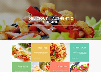 Gourmet Restaurant Example Website