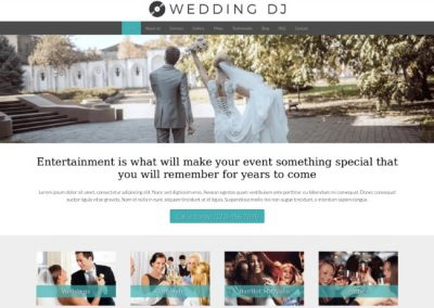 Wedding DJ Website Example